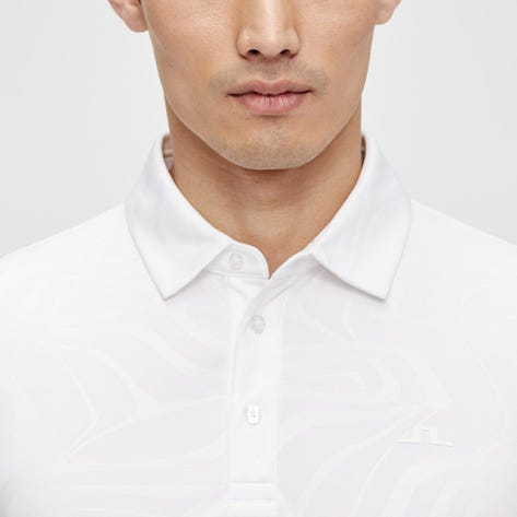 J.Lindeberg Golf Shirt - Tony Slim Fit - Cloud White SS21