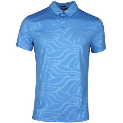 J.Lindeberg Golf Shirt - Tony Slim Fit - Ocean Blue SS21