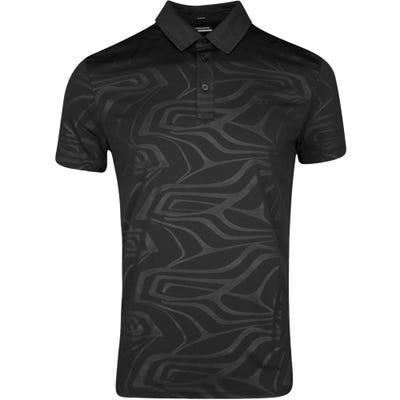 J.Lindeberg Golf Shirt - Tony Slim Fit - Black SS21