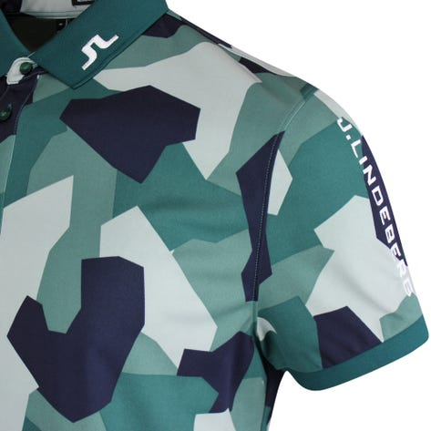 J.Lindeberg Golf Shirt - Tour Tech Regular Print - Green Camo AW21