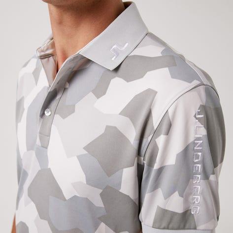 J.Lindeberg Golf Shirt - Tour Tech Regular Print - Grey Camo AW21