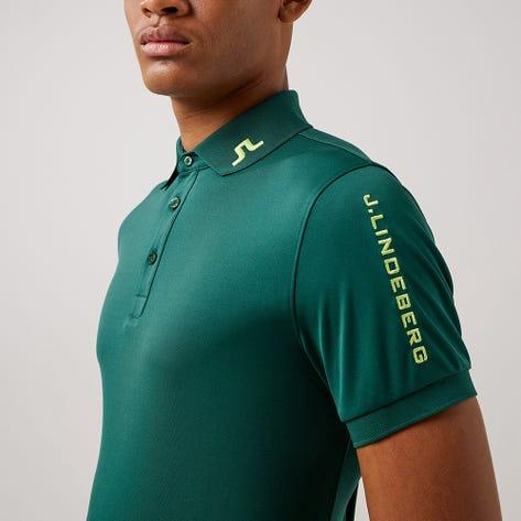 J.Lindeberg Golf Shirt - Tour Tech Slim - Treeline Green AW21