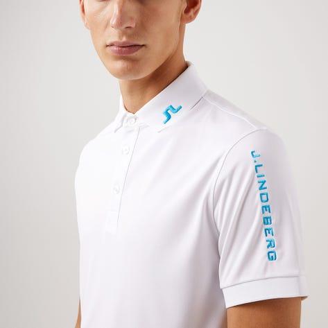 J.Lindeberg Golf Shirt - Tour Tech Slim - White AW21