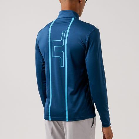 J.Lindeberg Golf Pullover - Johan Mid Layer - Majolica Blue AW21