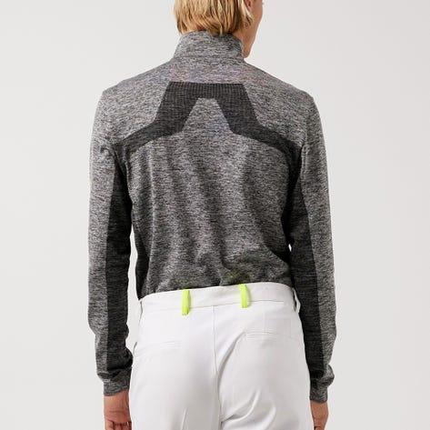 J.Lindeberg Golf Pullover - Kenny Mid Layer - Grey Melange AW21