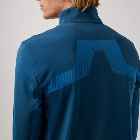 J.Lindeberg Golf Pullover - Kenny Mid Layer - Majolica Blue AW21