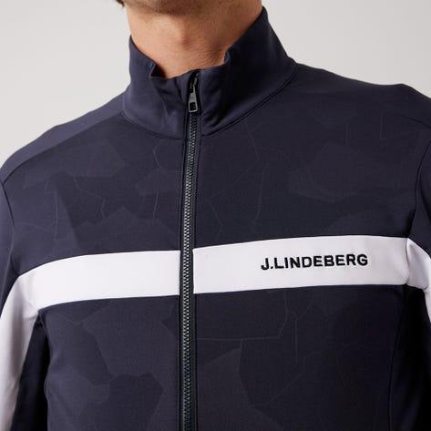 J.Lindeberg Golf Mid Layer - Seasonal Jarvis - Navy Debossed AW21