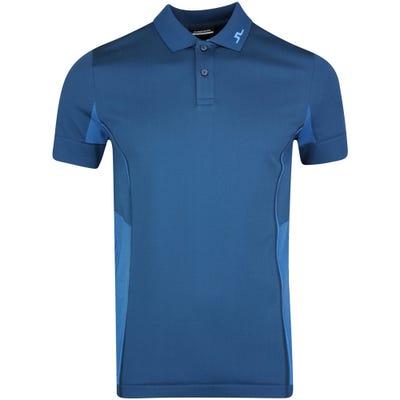 J.Lindeberg Golf Shirt - Al Regular Fit - Majolica Blue AW21