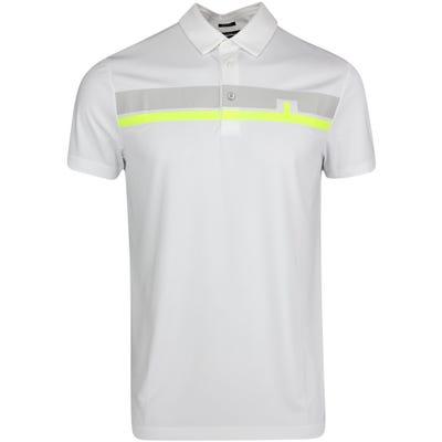 J.Lindeberg Golf Shirt - Clark Regular Fit - White AW21