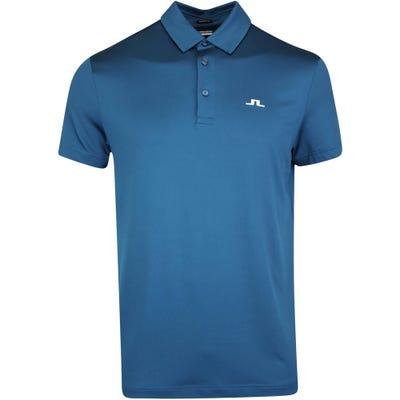 J.Lindeberg Golf Shirt - Kieth Regular Fit - Majolica Blue AW21