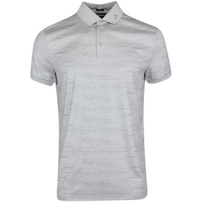 J.Lindeberg Golf Shirt - KV Regular Print - JL HQ Grey AW21