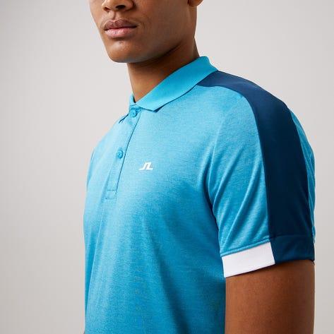 J.Lindeberg Golf Shirt - Rowland Slim - Fancy Melange AW21