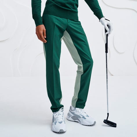J.Lindeberg Golf Trousers - Twig Two Tone Pant - Treeline Green AW21