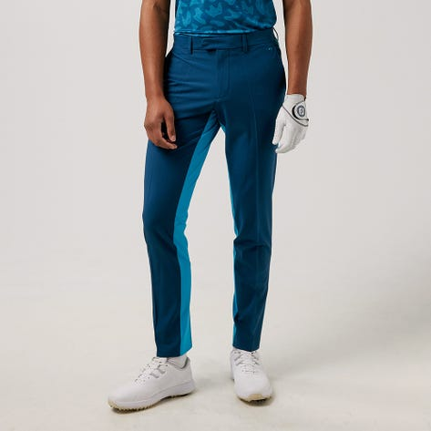 J.Lindeberg Golf Trousers - Twig Two Tone Pant - Majolica Blue AW21