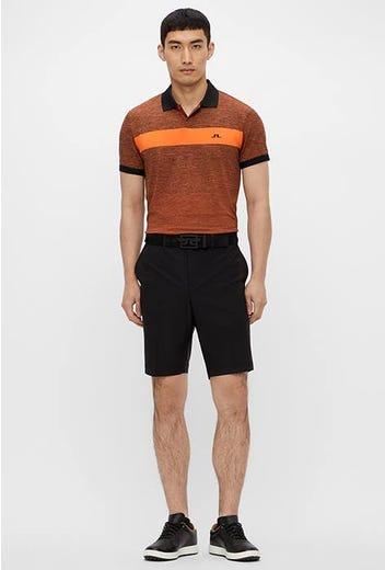 J.Lindeberg - Black Orange Melange Polo - SS21 Campaign