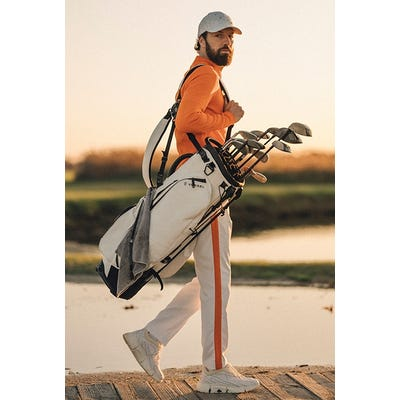 J.Lindeberg - Orange Side Stripe Golf Trousers - SS21 Campaign