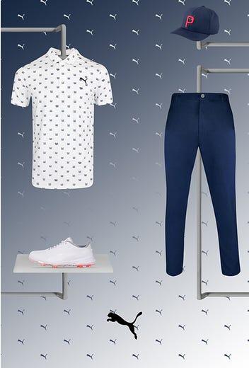 Justin Suh - US Open Thursday - White PUMA Golf Shirt 2021