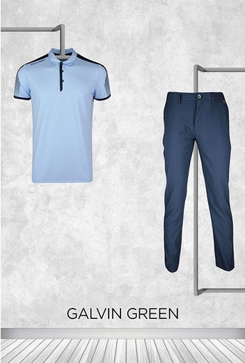 Lanto Griffin - Masters Friday - Pale Blue Golf Shirt 2021