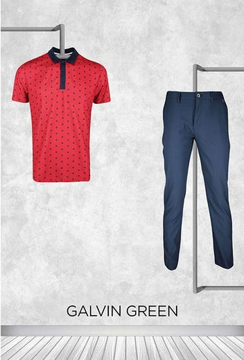 Lanto Griffin - Masters Thursday - Red Printed Golf Shirt 2021