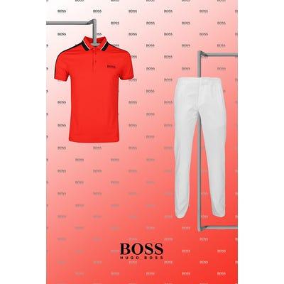 Martin Kaymer - US Open Thursday - Two Tone BOSS Golf Polo 2021