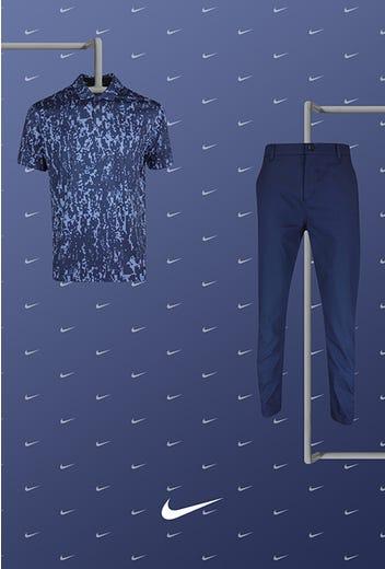 Matthew Wolff - US Open Saturday - Navy Blue Nike Golf Shirt 2021