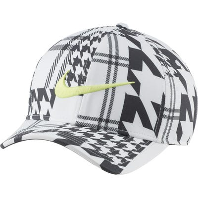 Nike Golf Cap - Houndstooth Aerobill CL99 - White - Black FA21