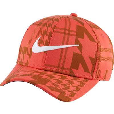 Nike Golf Cap - Houndstooth Aerobill CL99 - Track Red FA21