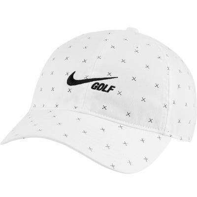 Nike Golf Cap - NK Washed H86 Crossed Clubs - White FA21