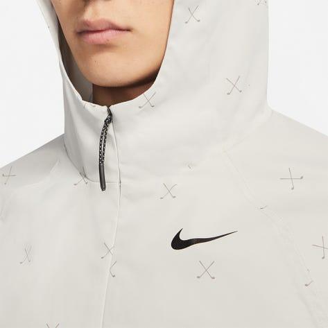 Nike Golf Jacket - NGC Crossed Clubs Repel Hoodie - Light Bone FA21