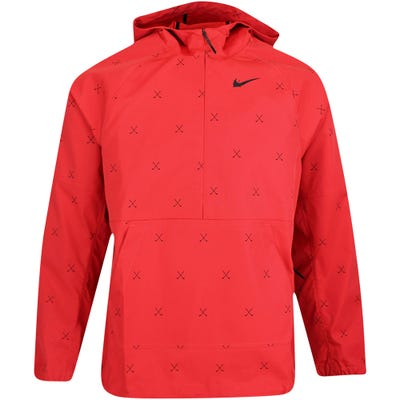 Nike Golf Jacket - NGC Crossed Clubs Repel Hoodie - Track Red FA21