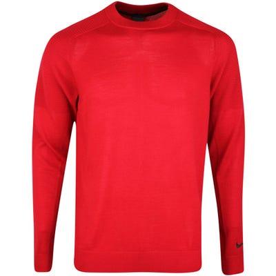 Nike Golf Jumper - TW Merino Knit Crew - Gym Red SP21