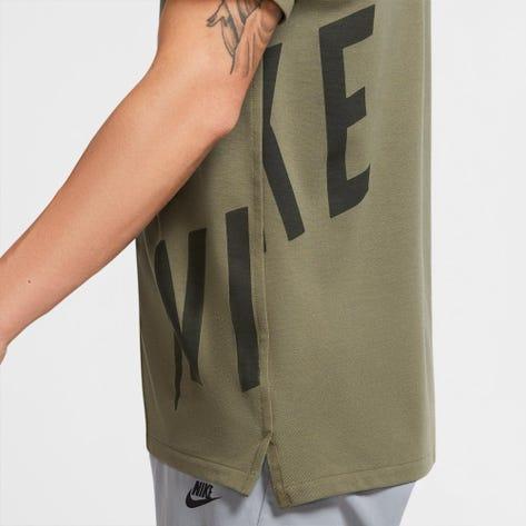 Nike Golf Shirt - The Nike Polo Slim - Medium Olive Hacked FA20