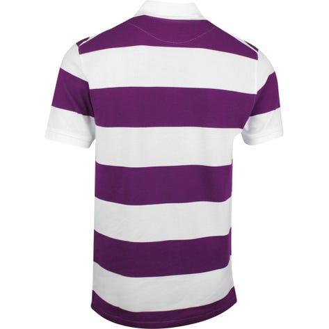 Nike Golf Shirt - The Nike Polo Stripe Slim - Bright Grape FA20