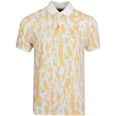 Nike Golf Shirt - Bark Print Polo Slim - Orange Chalk SU21