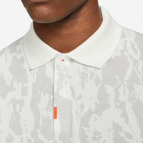 Nike Golf Shirt - Bark Print Polo Slim - Summit White SU21