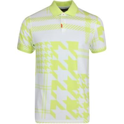 Nike Golf Shirt - Plaid Mash Polo Slim - Lt Lemon Twist FA21