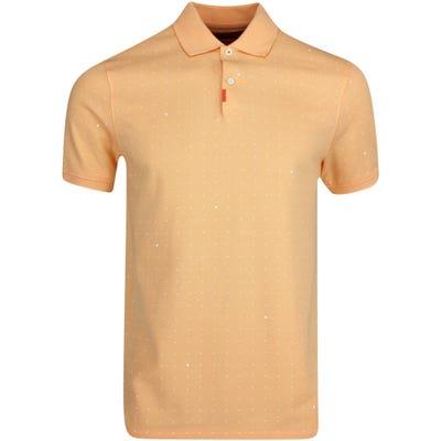 Nike Golf Shirt - Space Dot Polo Slim - Orange Chalk SU21