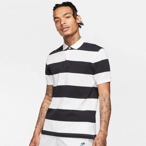 Nike Golf Shirt - The Nike Polo Stripe Slim - Black SU20