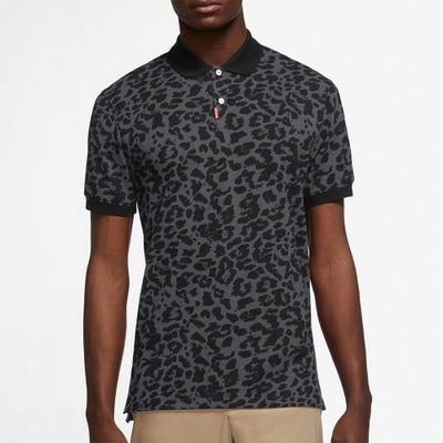 Nike Golf Shirt - Primal Print Polo Slim - Dk Smoke Grey HO21
