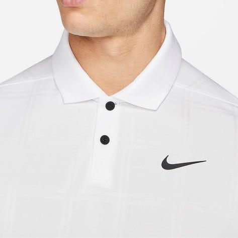 Nike Golf Shirt - NK Dry Vapor Texture - White FA21
