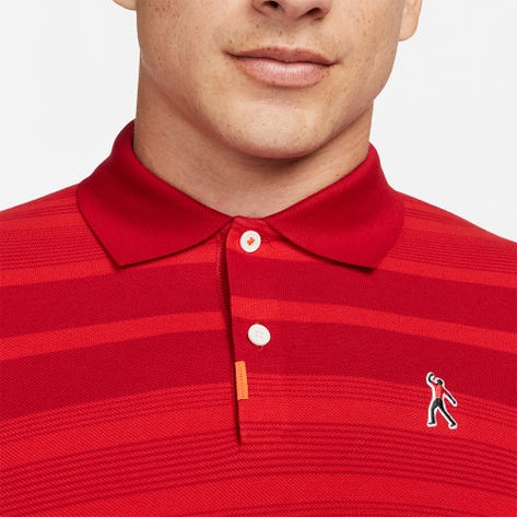 Nike Golf Shirt - The Tiger Woods Polo Slim - Gym Red NRG HO21
