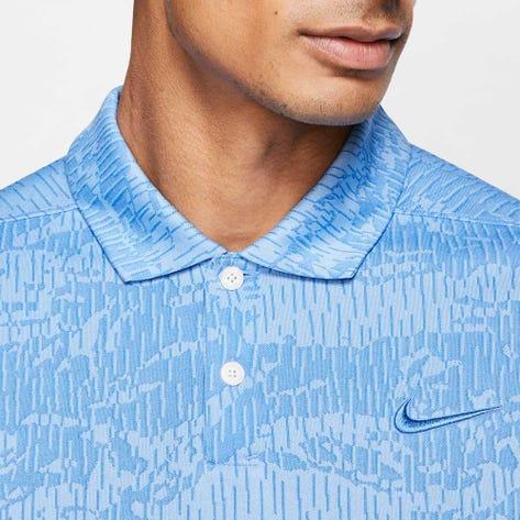 Nike Golf Shirt - NK Dry Vapor Camo Jacquard - Pacific Blue SS20