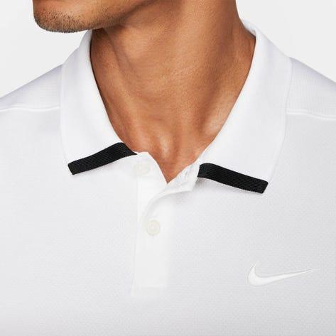 Nike Golf Shirt - NK Dry Vapor Solid - White SS20