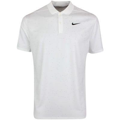 Nike Golf Shirt - NK Dry Victory Print - White SU21
