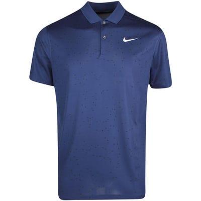 Nike Golf Shirt - NK Dry Victory Print - Midnight Navy SU21