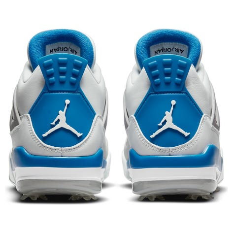 Nike Golf Shoes - Air Jordan IV G - White - Military Blue 2021