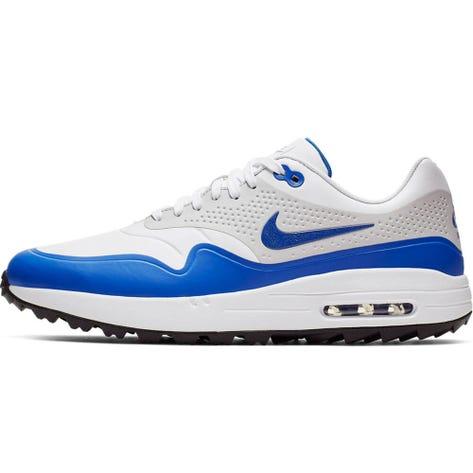 Nike Golf Shoes - Air Max 1 G - White - Game Royal 2019