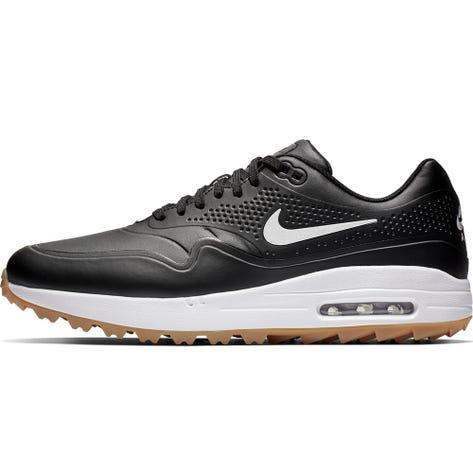 Nike Golf Shoes - Air Max 1 G - Black - White Swoosh 2019