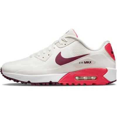 Nike Golf Shoes - Air Max 90 G - Sail - Fusion Red 2021