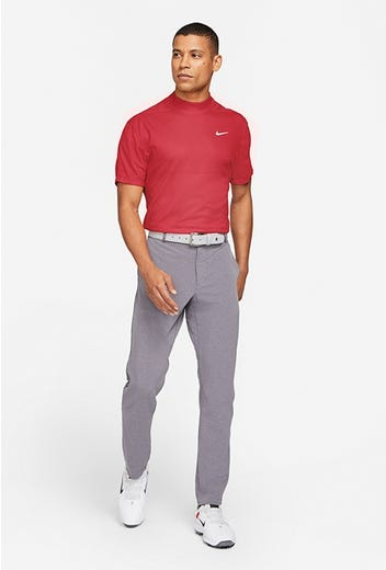 Nike Golf - Red Tiger Woods Mock Polo - Spring 2021